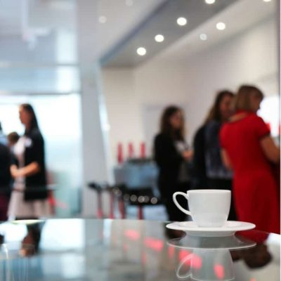 Image of coffee in an office break room